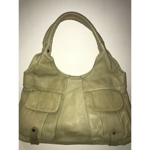 Perlina New York Leather Beige Shoulder Purse